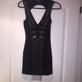Bebe Beaded/Sequined/chain Dress