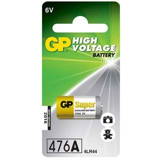 GP 476A car alarm battery 1 piece 6V 4LR44 - 0% Mecury High voltage Alkaline Series
