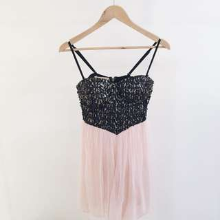 Sequin And Tulle Dress - Size S