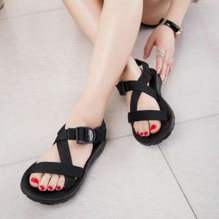 Brand New Black Cross Sandals Size 36