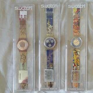 Swatch  Collection Items- 1996 Atlanta Olympic 3 pcs Set