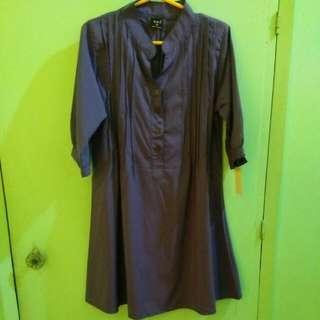 Purple Sleeved Dress