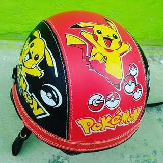 Helm Retro Anak Karakter Pokemon