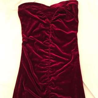 Crushed Velvet Tube Dress