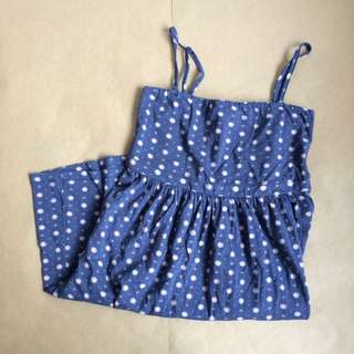 Esprit Elastic Straps Summer Navy Dress