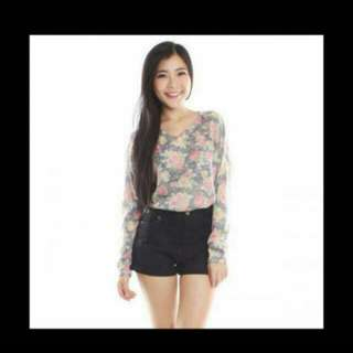 Knitted Floral Pullover