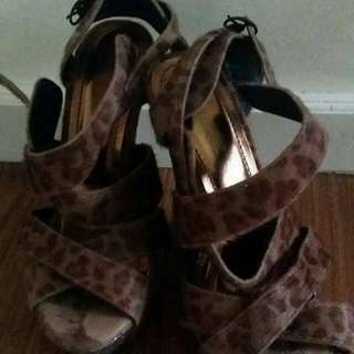Rusty LOPEZ strappy Animal Print Sandals