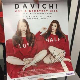 Davichi Signed Poster