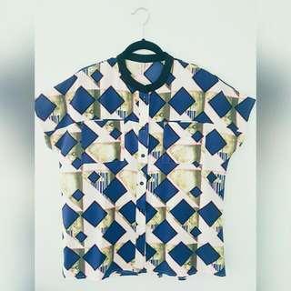 Penshoppe Box Button Up Shirt