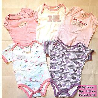 Lot Of 5 Onesies