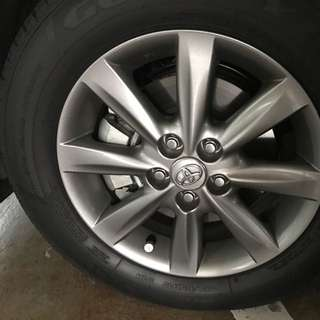 """15"""" Toyota Wish Stock Rims And Tyres"""