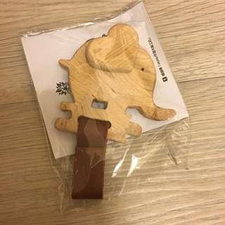 🚚 木頭大象鑰匙圈