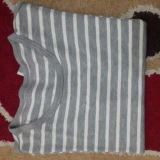Stripe Abu Abu Putih