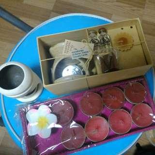 精油燭台+玫瑰蠟燭(贈送)