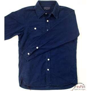 Iron Heart IHSH-44 Indigo Overdyed Oxford Cotton Work Shirt