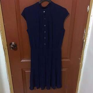 Navy Blue Midi-Maxi Dress
