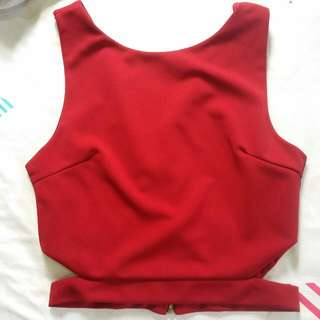 Cut Out Red Top