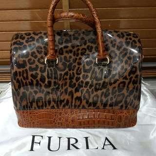 FURLA Leopard Print Jelly Bag