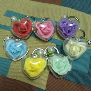 Rose Keychain for Valentines