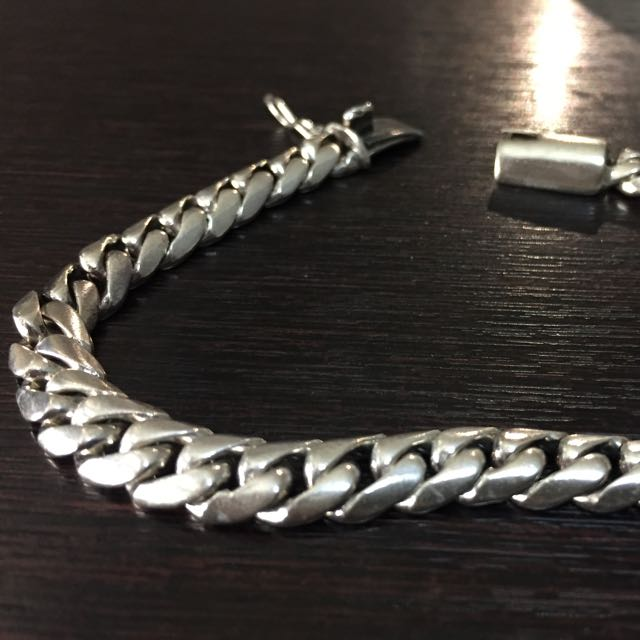 925 Silver Bracelet Mens Fashion Accessories On Carousell