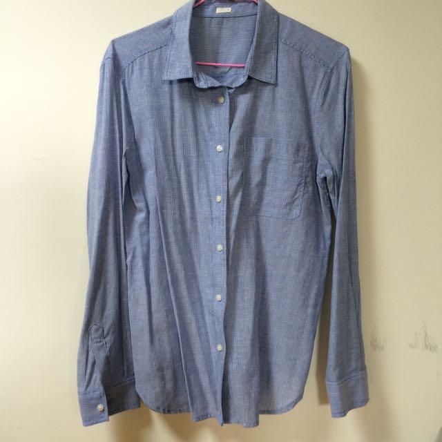 長袖條紋襯衫