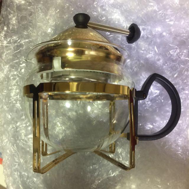 全新金屬風咖啡(茶)壺