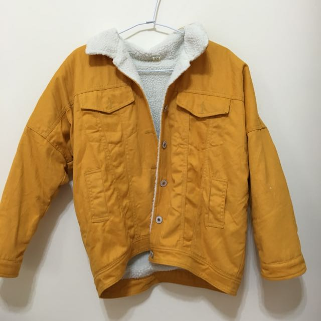 黃色 羔羊外套