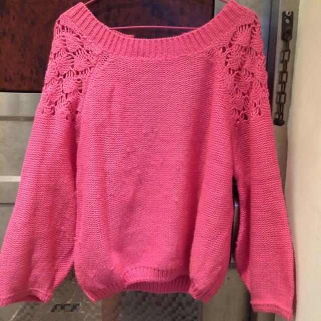 少女心爆發的粉紅緞帶 微燈籠袖上衣