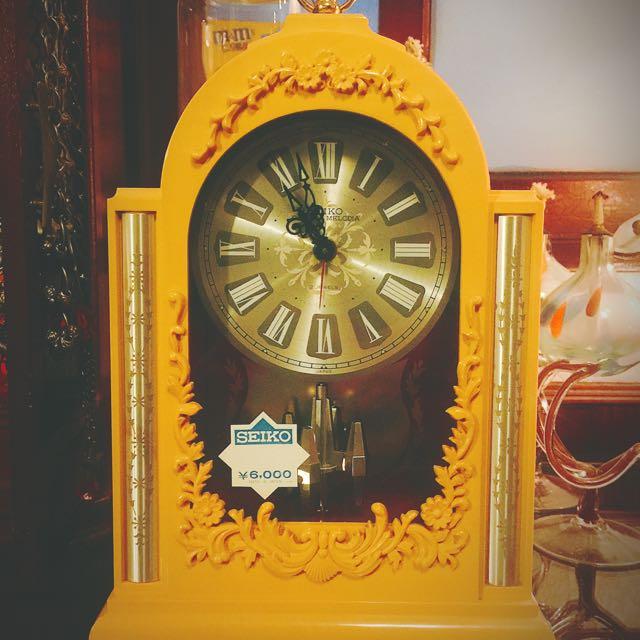 ✨日本經典老美品機械鬧鐘  SEIKO 經典音樂座鐘鐘系列款