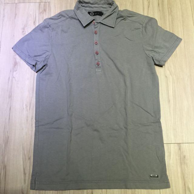 agnis b素色基本款polo衫