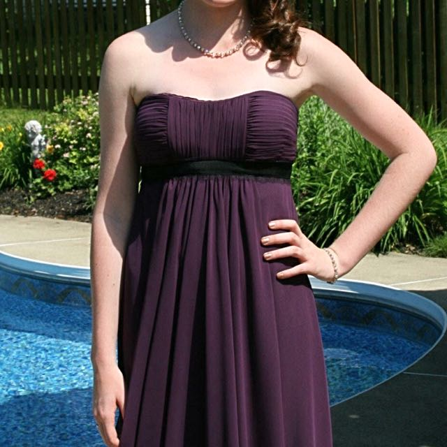 Bary Jay Bridesmaid dress, Style 909, Color: Eggplant, Size: US 4