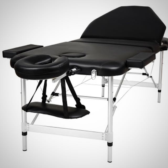 Black Aluminium Massage Table