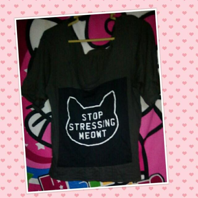 Black Cute Meowt T'shirt