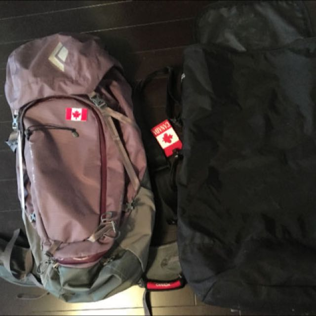 Black Diamond Backpack And Carrying Case