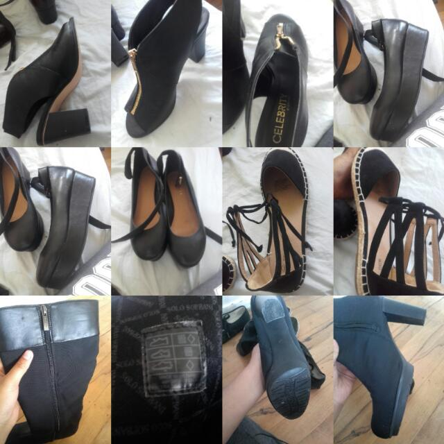 BLACK HEELS AND FLATS NEED TO BE GONE ANY OFFERS?!