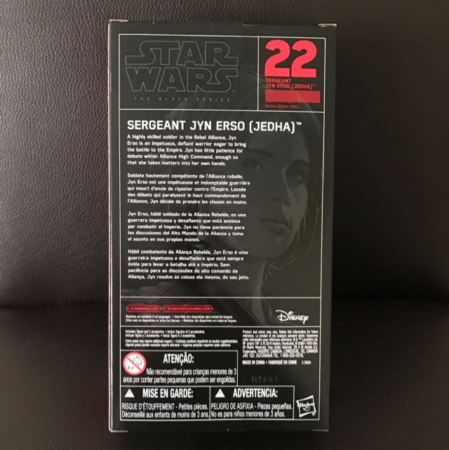 "Sergeant Jyn Erso Jedha #22 Star Wars Black Series 6/"" Rogue One Mint In Box New!"