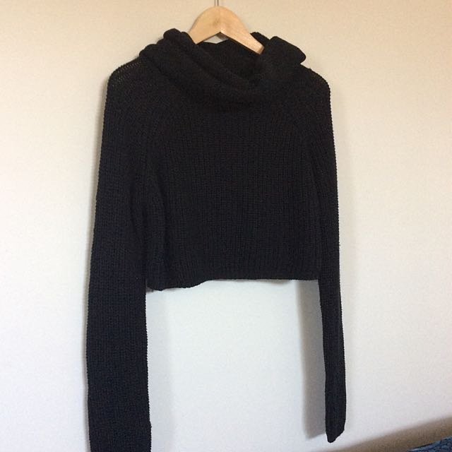Candidate Cropped Knitted Turtleneck Jumper