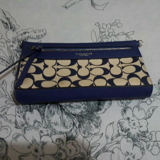 Coach Hand Bag Blue