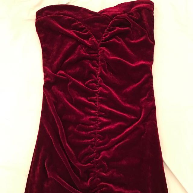 Crushed Velvet Tube Dress