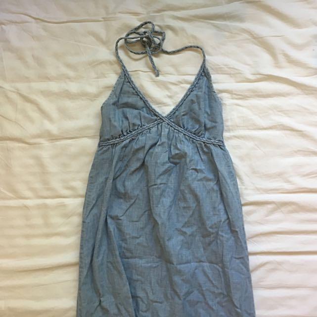 Denim Long Dress