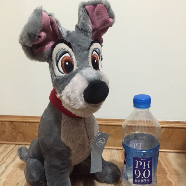 Disney 迪士尼 小姐與流氓 狗 Tramp 玩偶 42cm