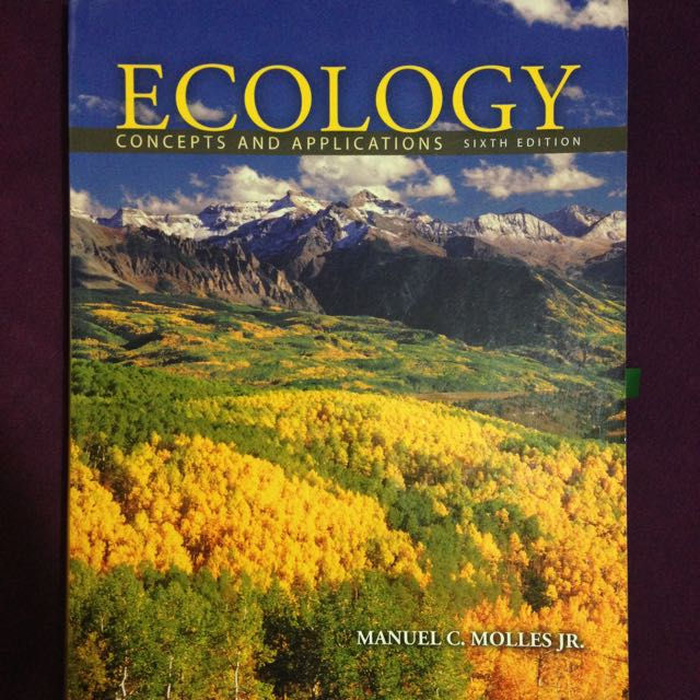 Ecology Concepts And Application Sixth Ed.