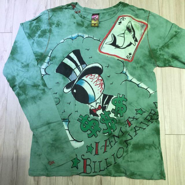 Ed Hardy 長袖綠色t-shirt