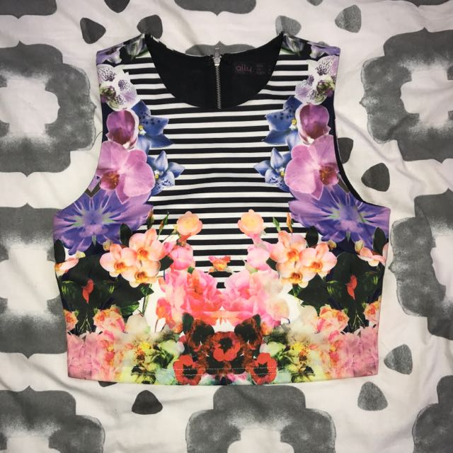 Floral Crop Top Ally Fashion