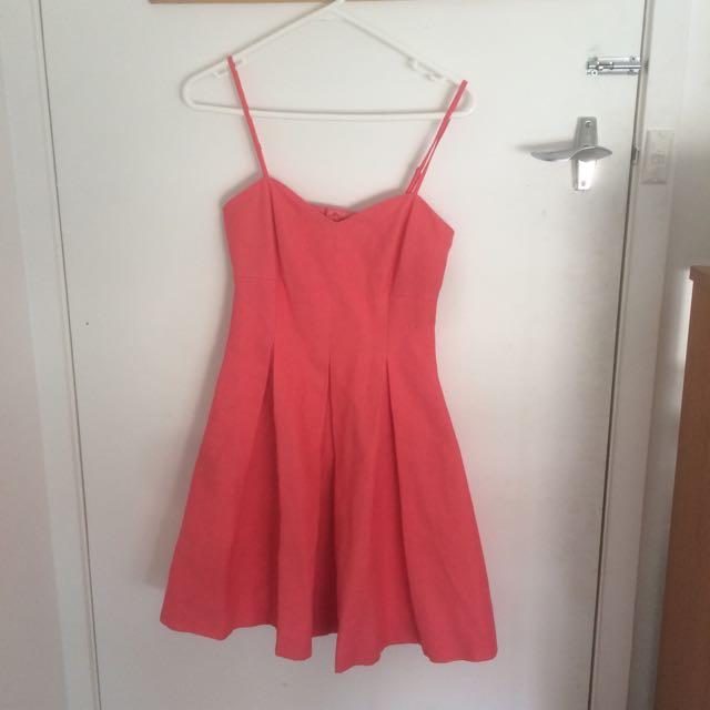 Forever New Coral Skater Dress
