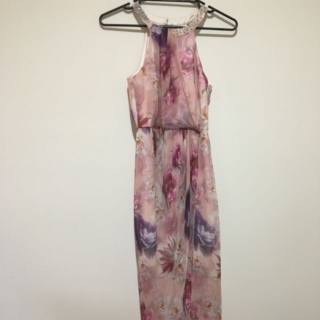 Forever New Floral Pink Dress Size 8