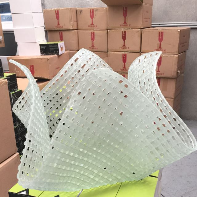 Hand Blown Glass Lattice Sculpture