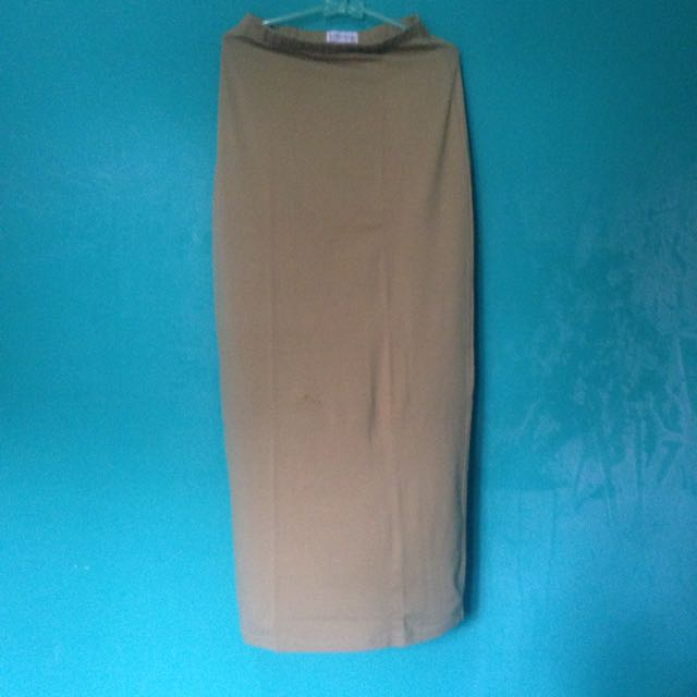 Hardwarde Long Mustard Skirt