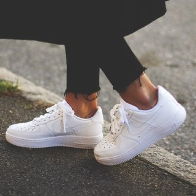 instocks inspired white low cut tumblr nike air force 1