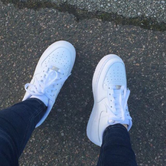 new style ebae5 b0cde ... INSTOCKS inspired white low cut tumblr nike air force 1, Womens  Fashion, ...